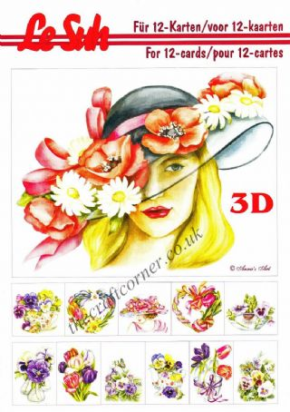 Spring Flowers 2 A5 3D Decoupage Book from Le Suh
